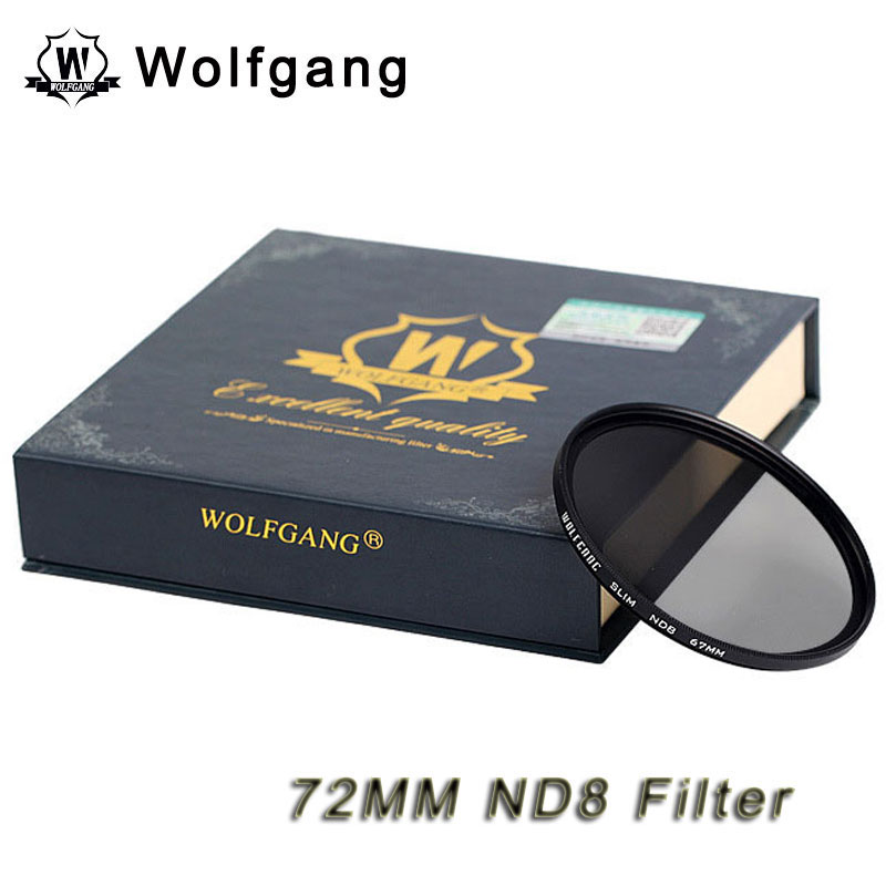 Wolfgang 72MM Neutral-Density Filter Grey ND8 For EOS 18-200