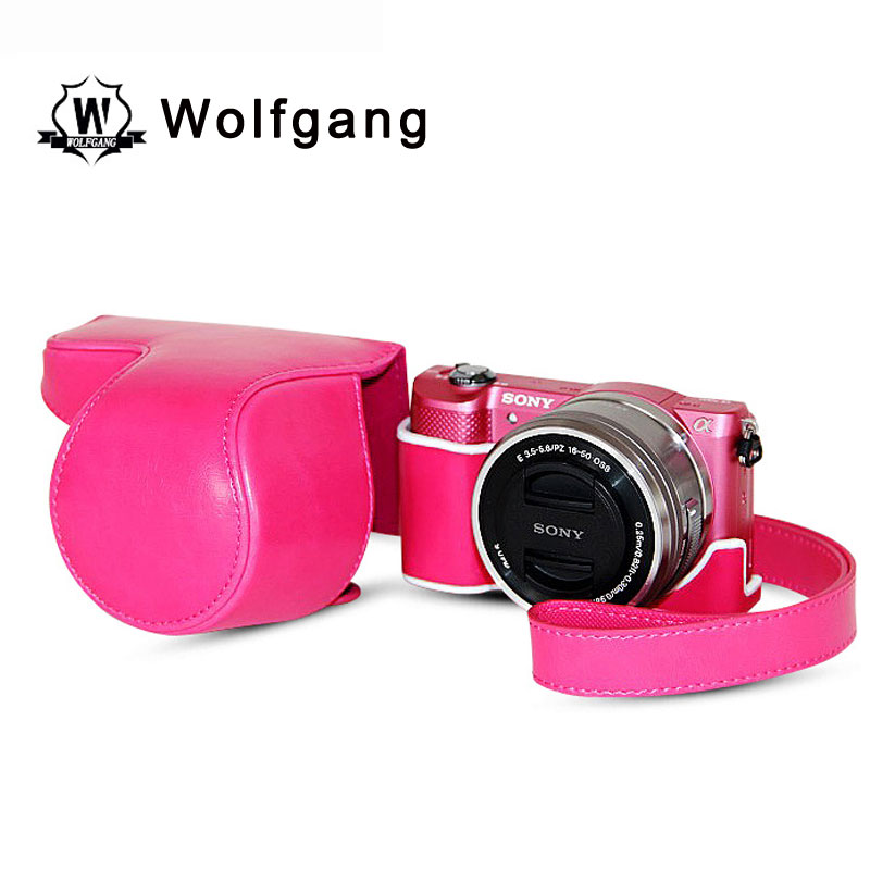 Wolfgang Professional Camera Holster ILDC Leather Cover For Sony A5100 A5000
