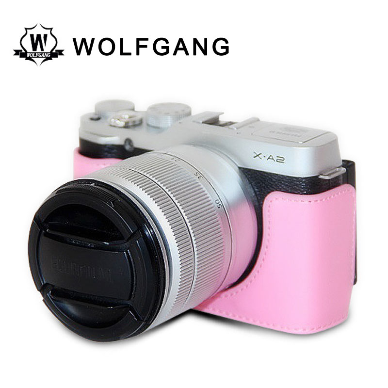 WOLFGANG Camera Protective Bags Leather Cover For X-M1 X-A X-A2 X30