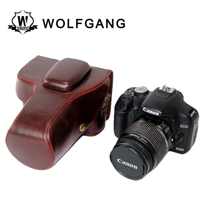 WOLFGANG Camera Leather Cover Protective Bags For Canon 1200D1300D