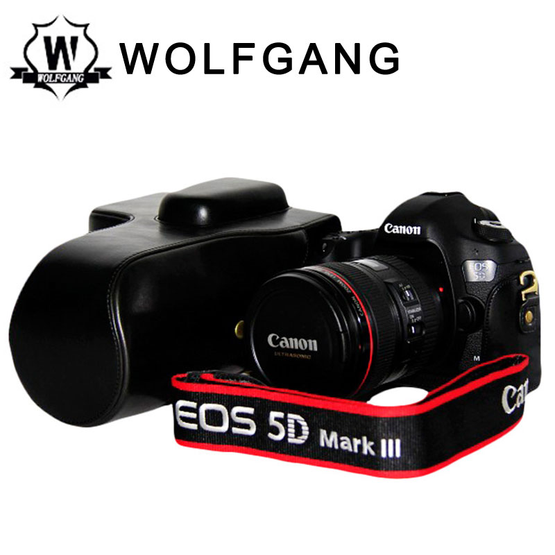 WOLFGANG Camera Protective Bag Camera Leather Holster For 5D MARK III