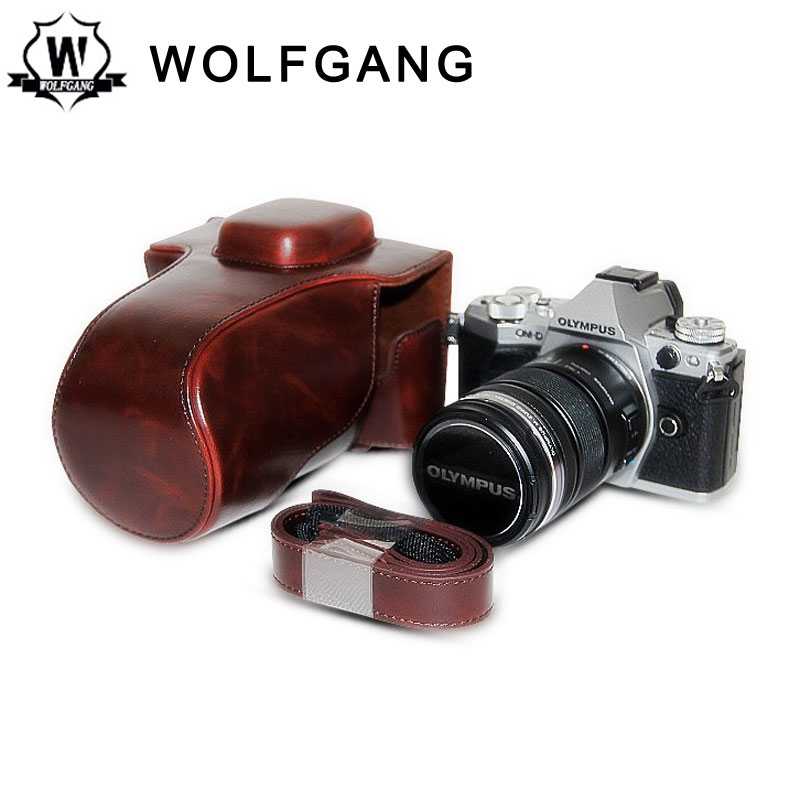 WOLFGANG Camera Bag Protective Leather Holster For Olympus E-M5 MARK II
