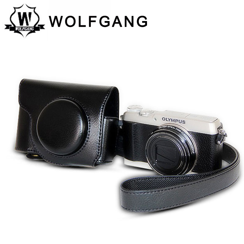 WOLFGANG Camera Protective Bag Camera Leather Holster For Olympus SH-3