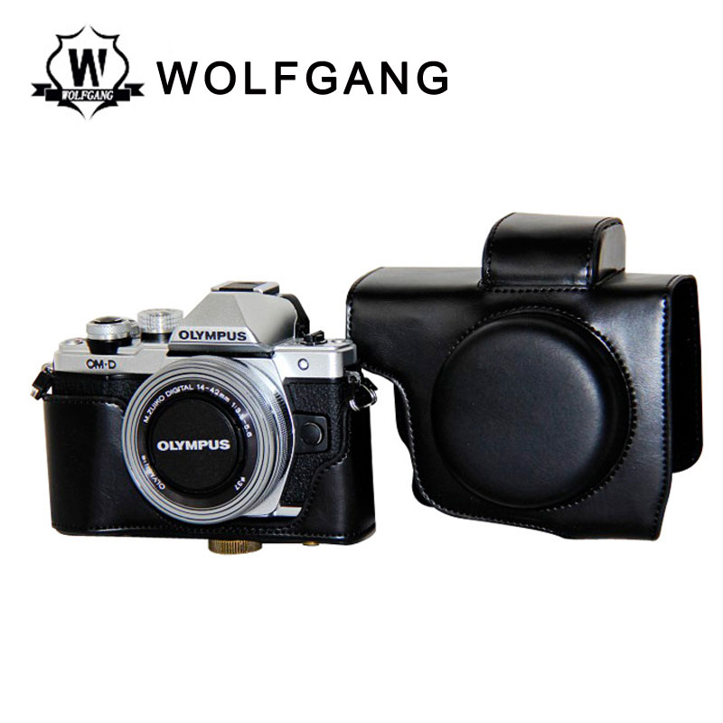 WOLFGANG Camera Leather Case Camera Protective Holster For EM10II