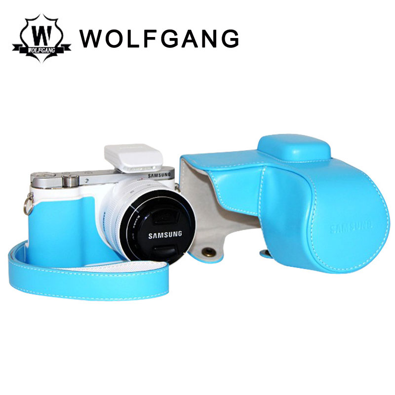 WOLFGANG Camera Protective Case Leather Holster For Samsung NX3000