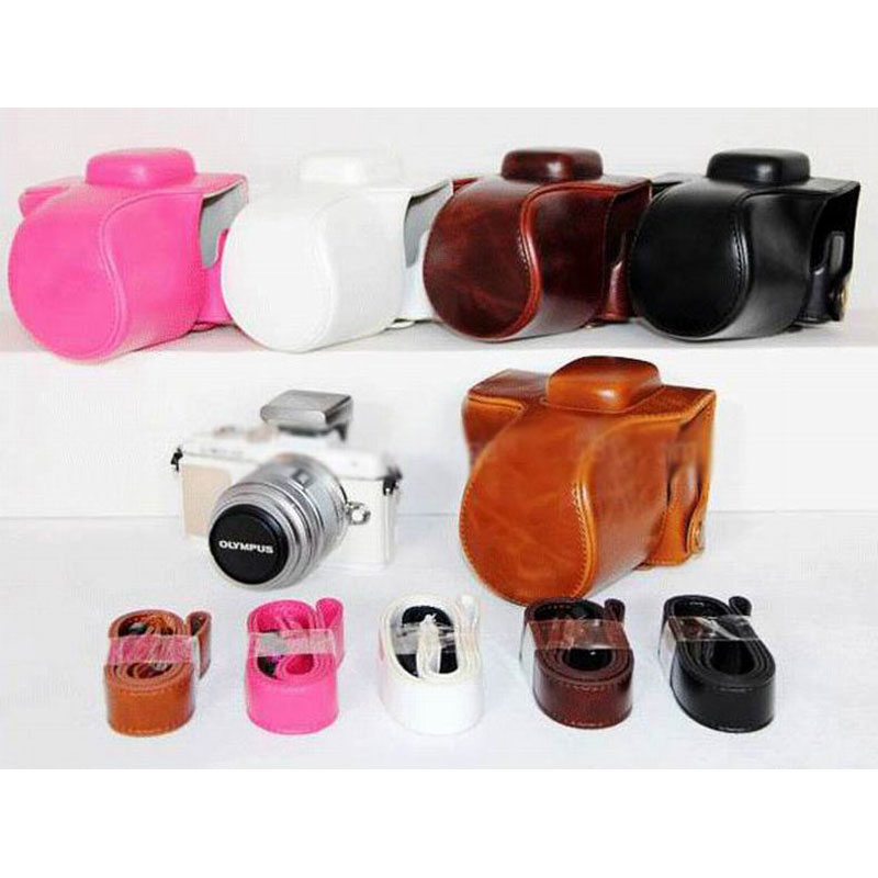 WOLFGANG Camera Protective Bag Vintage Leather Case For Olympus E-PL7
