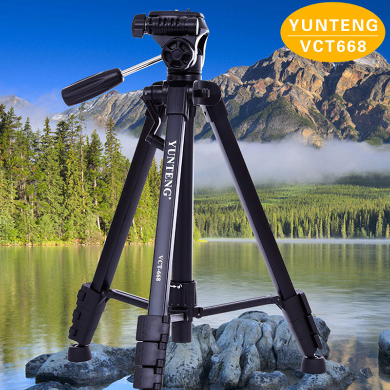 WOLFGANG Portable Black Aluminum Camera Tripod VCT-668 For SLR DSLR Digital Camera