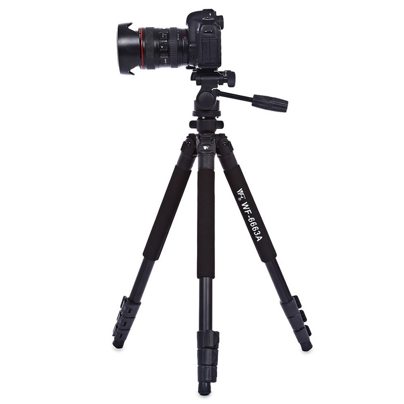 WOLFGANG Professional Portable Camera Tripod 360 Degree For SLR DSLR 6663A