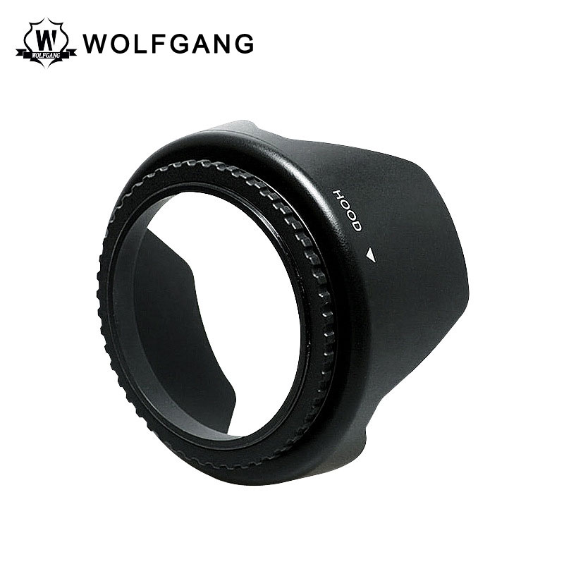 WOLFGANG Camera Lens Hood Black Rubber With Filter Thread