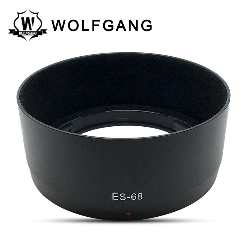 WOLFGANG Camera Lens Hood Rubber Black For 50mm f/1.8 STM ES-68