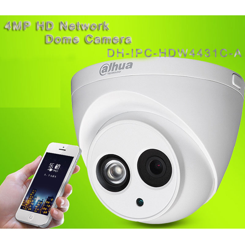 4MP HD Network Dome Camera With 50M IR Range POE DH-IPC-HDW4431C-A