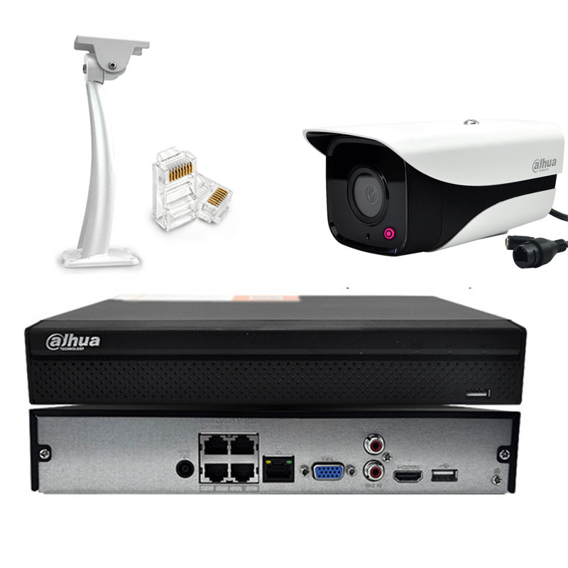 Surveillance Cameras Monitoring Kit 4CH With 2MP POE Camera