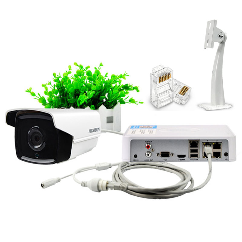 Surveillance 2MP Cameras Monitoring Kit With 4CH Video Recording POE