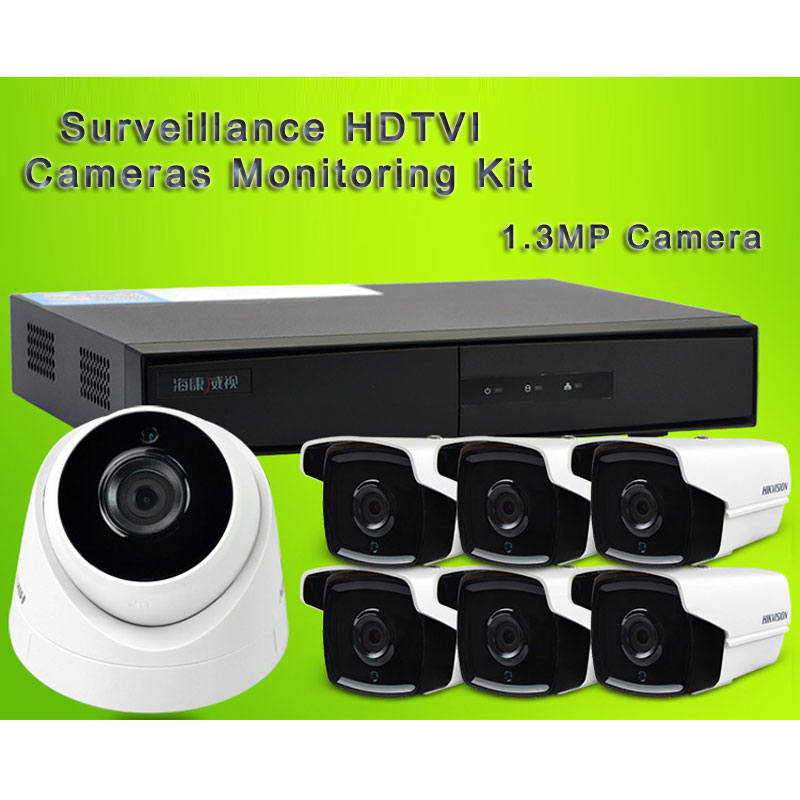 Surveillance HDTVI Cameras Monitoring Kit With 1.3MP Camera 4CH Video Recording