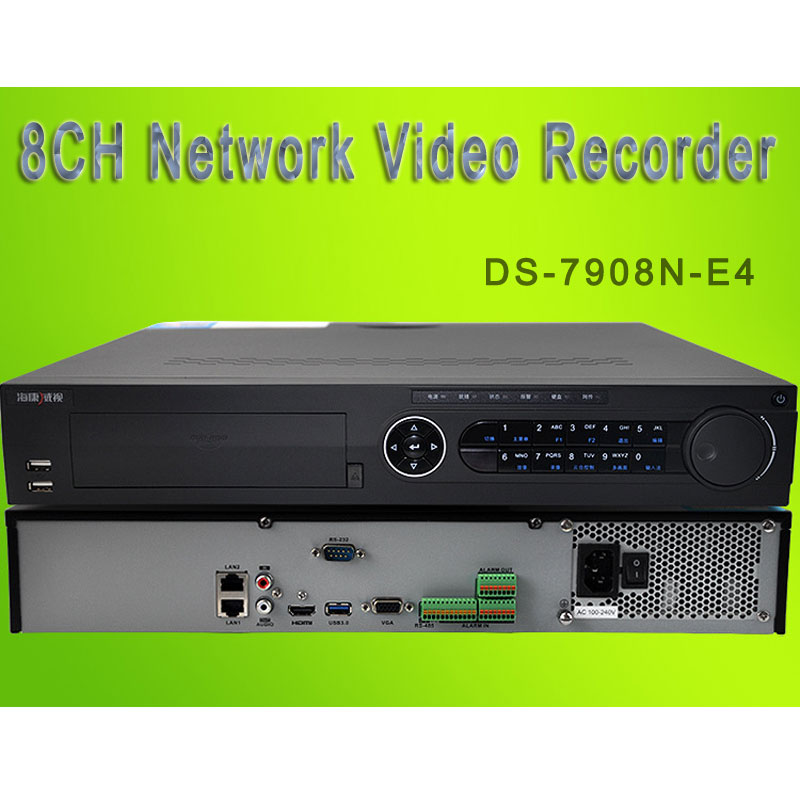 HIK 8CH Network Video Recorder 1080P NVR For Security Camera DS-7908N-E4
