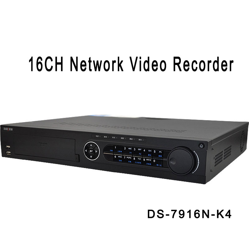 HIK 16CH Network Video Recorder H.265 NVR For Security Camera DS-7916N-K4