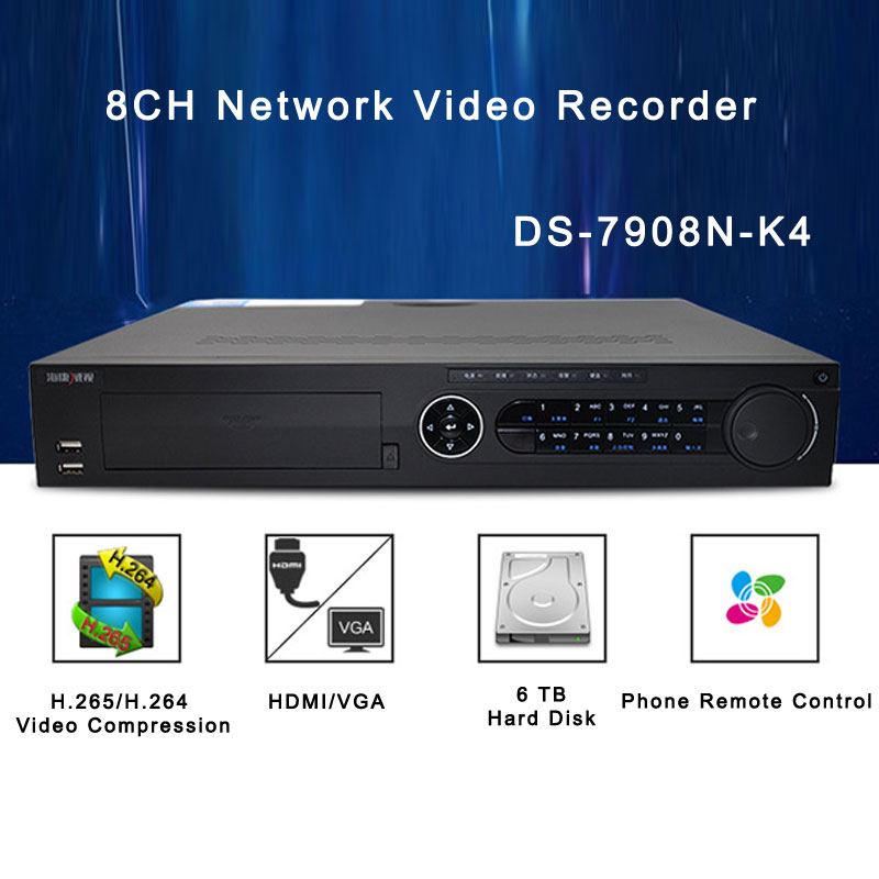 HIK 8CH Network Video Recorder With H.265 Video Compression DS-7908N-K4