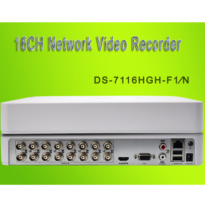 HIK 16CH Network Video Recorder Analog/HDTVI/AHD/IP DS-7116HGH-F1∕N