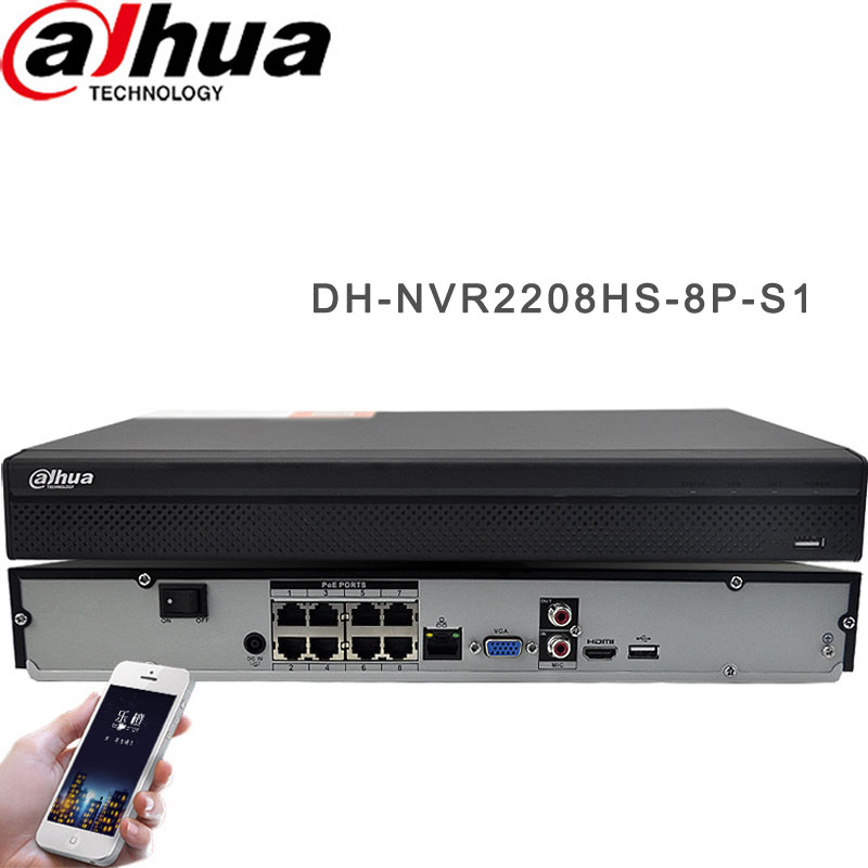 HIK 8CH POE Network Video Recorder H.264 DH-NVR2208HS-8P-S1