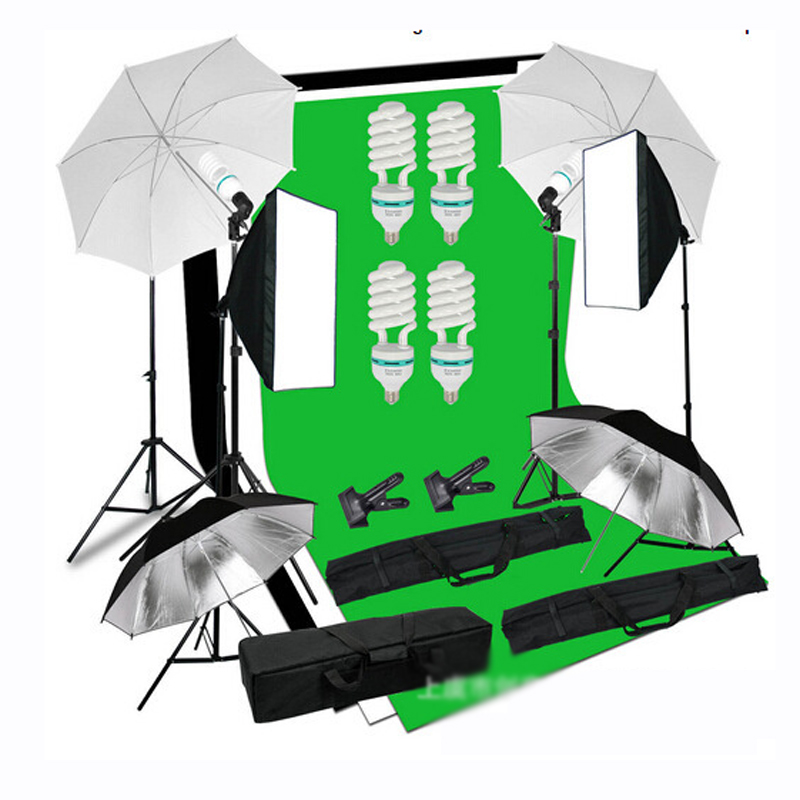 Photo Studio Kit Photography Studio Lighting Tent Kit Ph to Video Equipment with Background*3