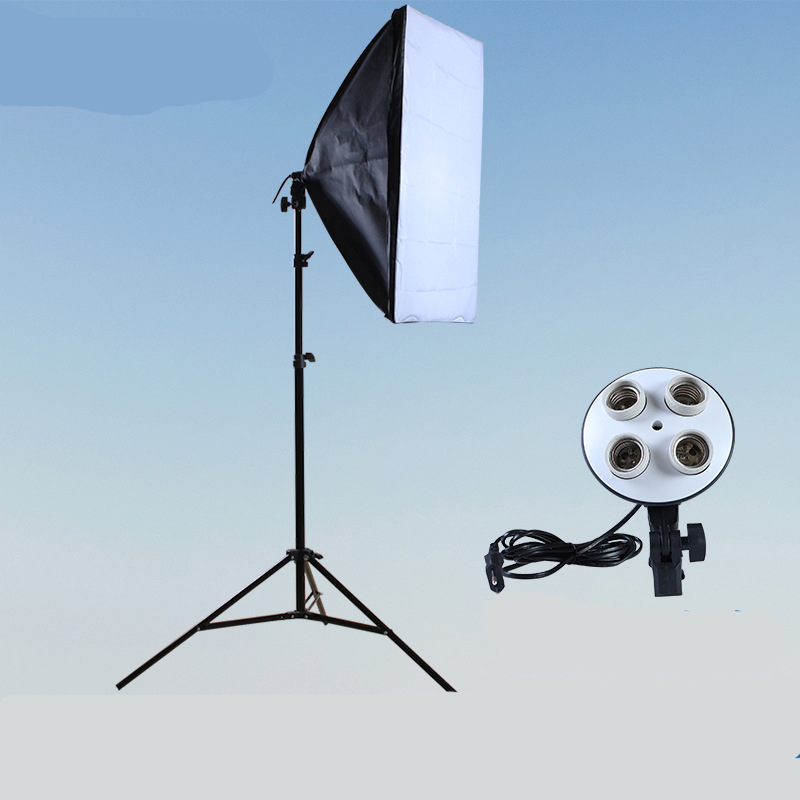 Photography Softbox Lighting Kit Photo Equipment 50*70CM Four Lamp Head Soft Box 2M Lighthouse
