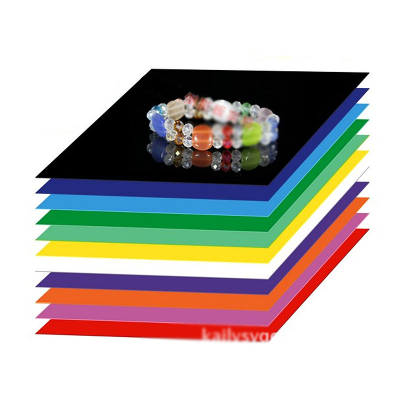 Multicolor Photography Light Set Series of Jewelry Shooting Station Reflection Plate 30*30cm