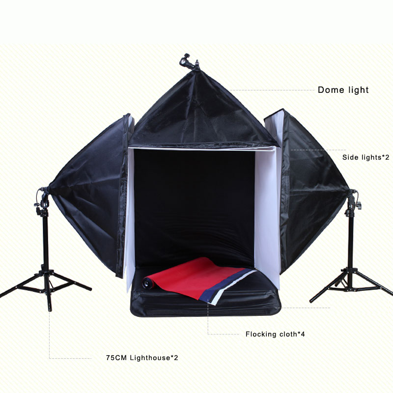 Top Quality Photography Studio 60CM Soft Box Continuous Lighting Softbox Light Stand Kit