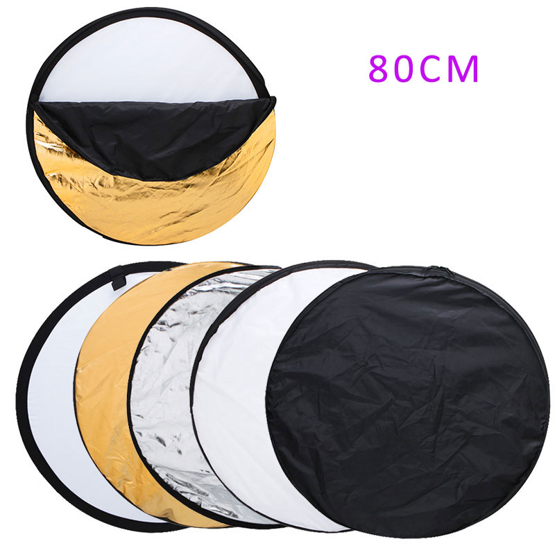 New Portable Collapsible Light Round Photography/Photo Reflector for Studio 5 in 1