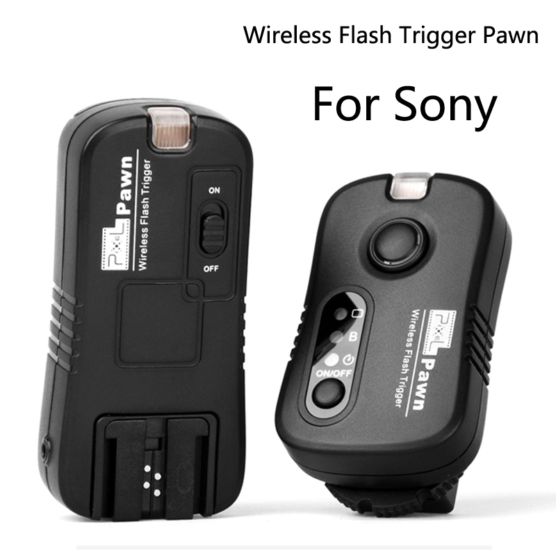 Black Wireless Remote Control Shutter Release Flash Trigger for Sony Alpha Minolta Camera and Flash
