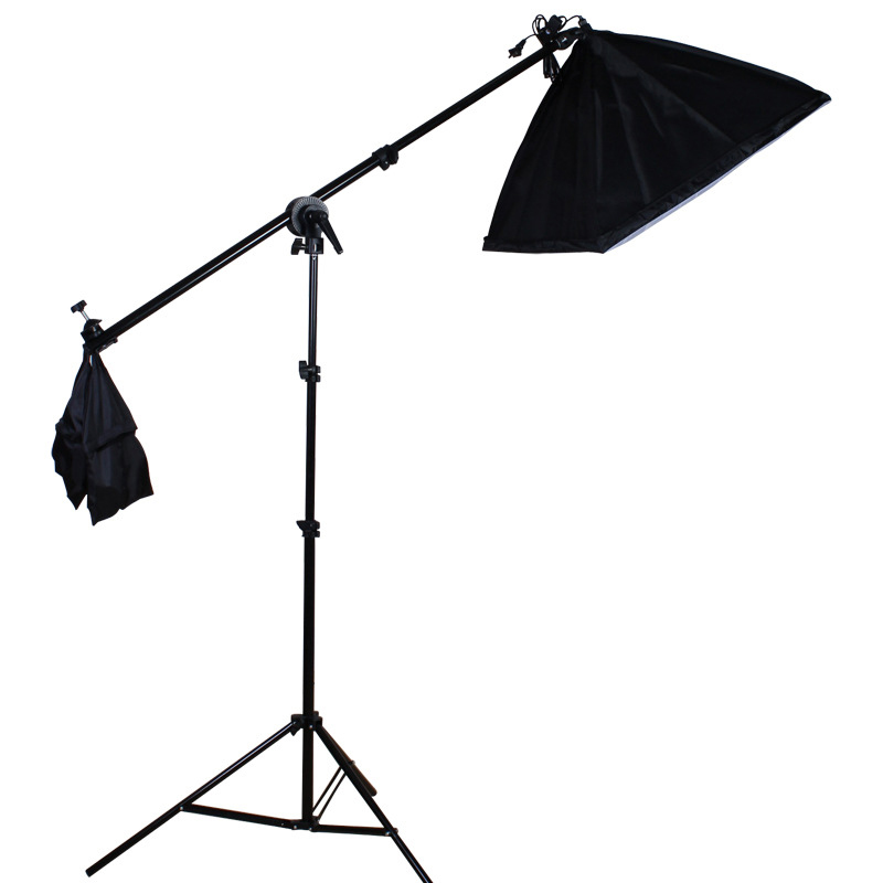Retractable Photographic Arm Brackets Aluminum Alloy with Sandbags Fill Light Stand