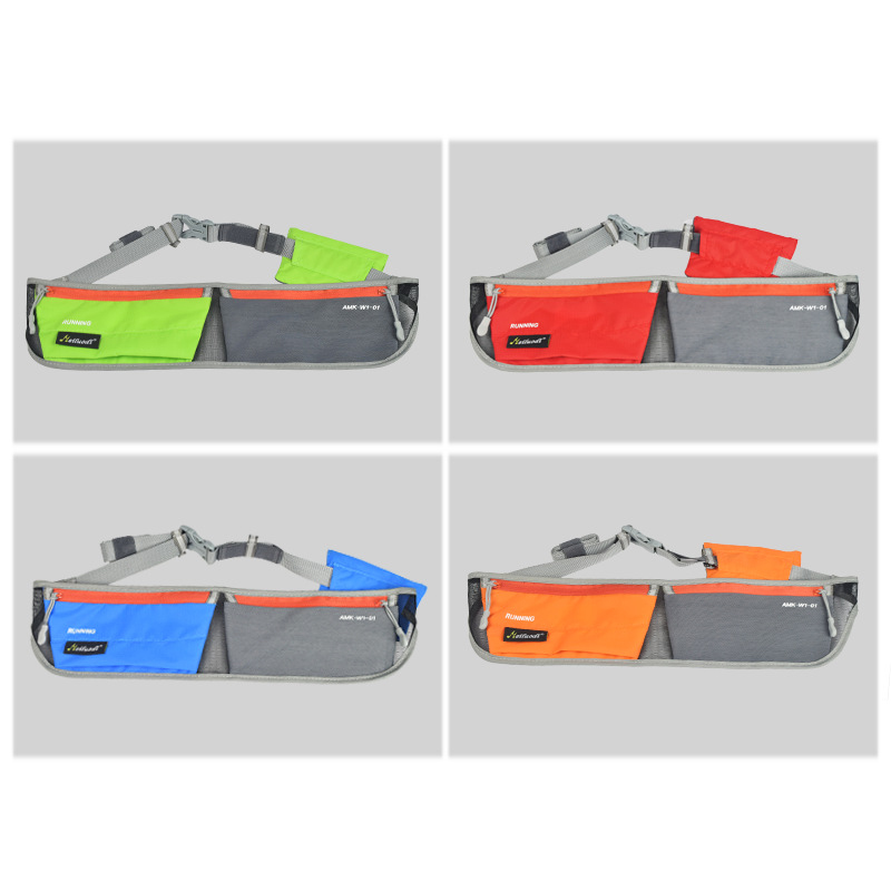 New Arrived 4Colors Unisex Professional Running Waist Bag for Mobile Phone Gym Bags Running Waist Belt Sports Entertainment Acc