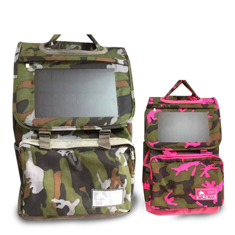 New Solar Panel Battery Charging Travel Backpacks Tourism Bags USB Output Charger Backpack Bag