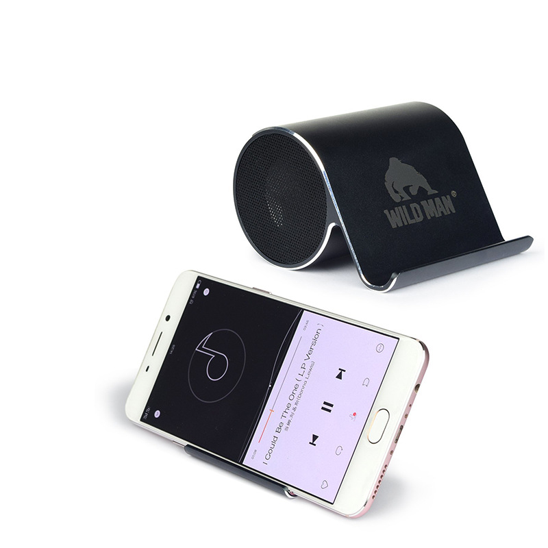 Mini Portable Bluetooth Wireless Speakers Support Phone Holder Stand