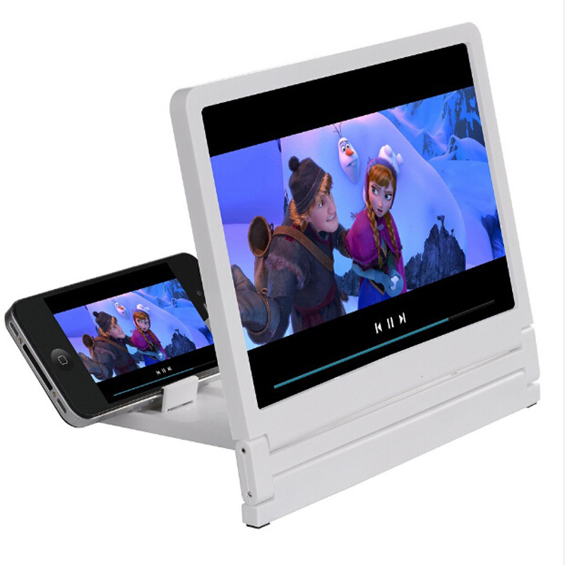 New Mobile Phone Screen Magnifier 3D Video Amplifier Folding Larger Expander HD Stand for Video
