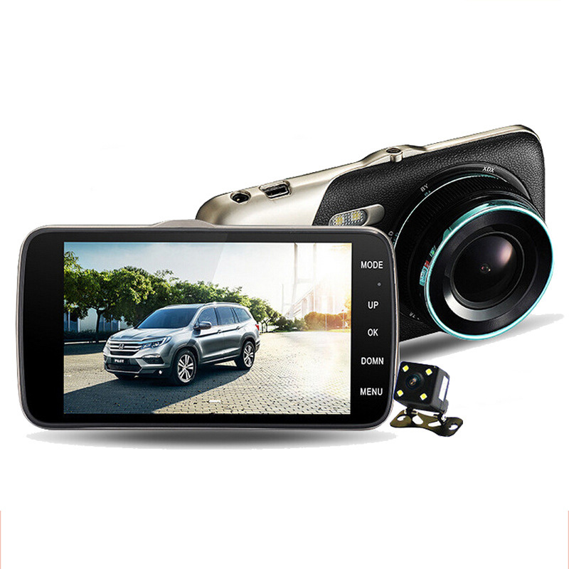 4 inches Night Vision Vehicle Mounted 1080P Mirror Car DVRs L55