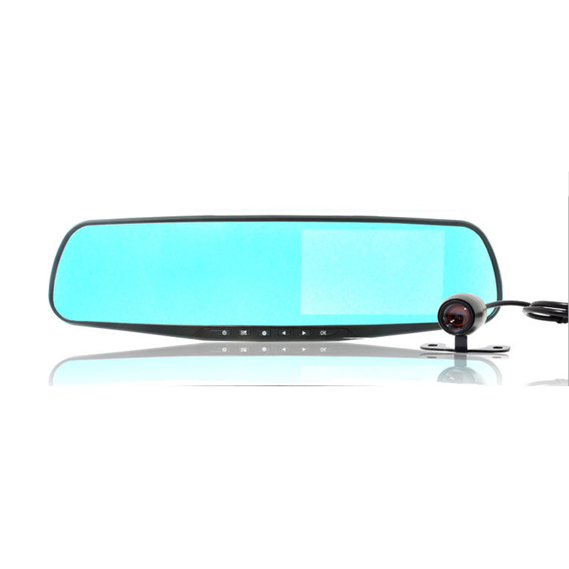 High Definition Blue Mirror 4.3 inches Wide Angle Car DVR L9000
