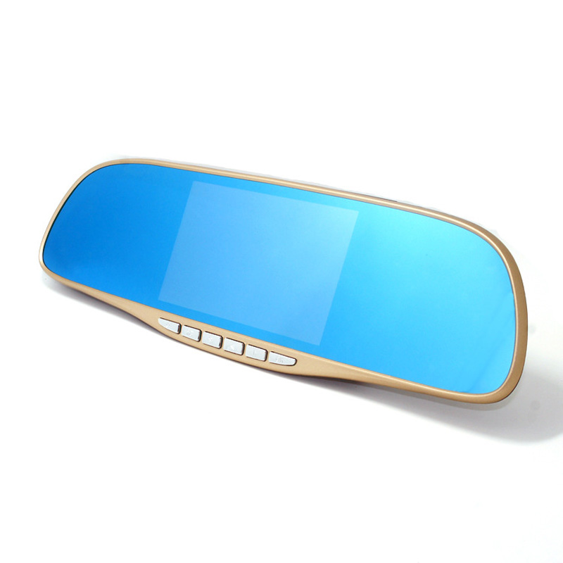 5 inches High Definition Wide Angle Blue Mirror Car DVR L9006