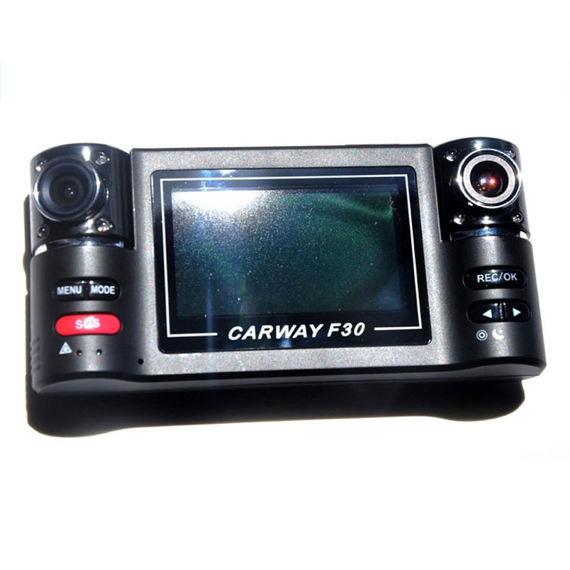 2.7 inches Dual Lens Video Recorder Car DVRs Camera F30