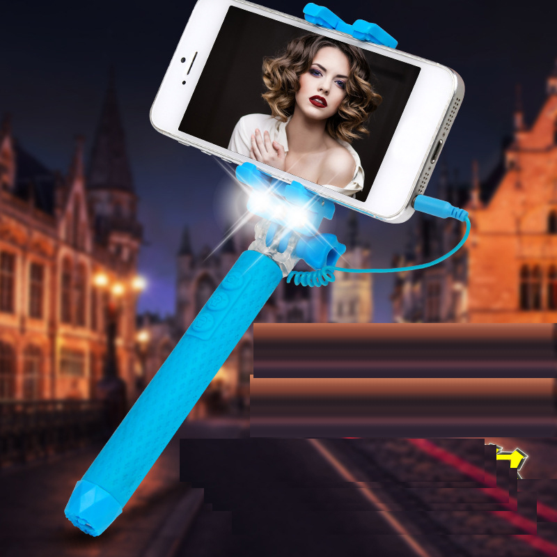 Universal Portable Wired Selfie Stick for Smart Phones RK-mini3s