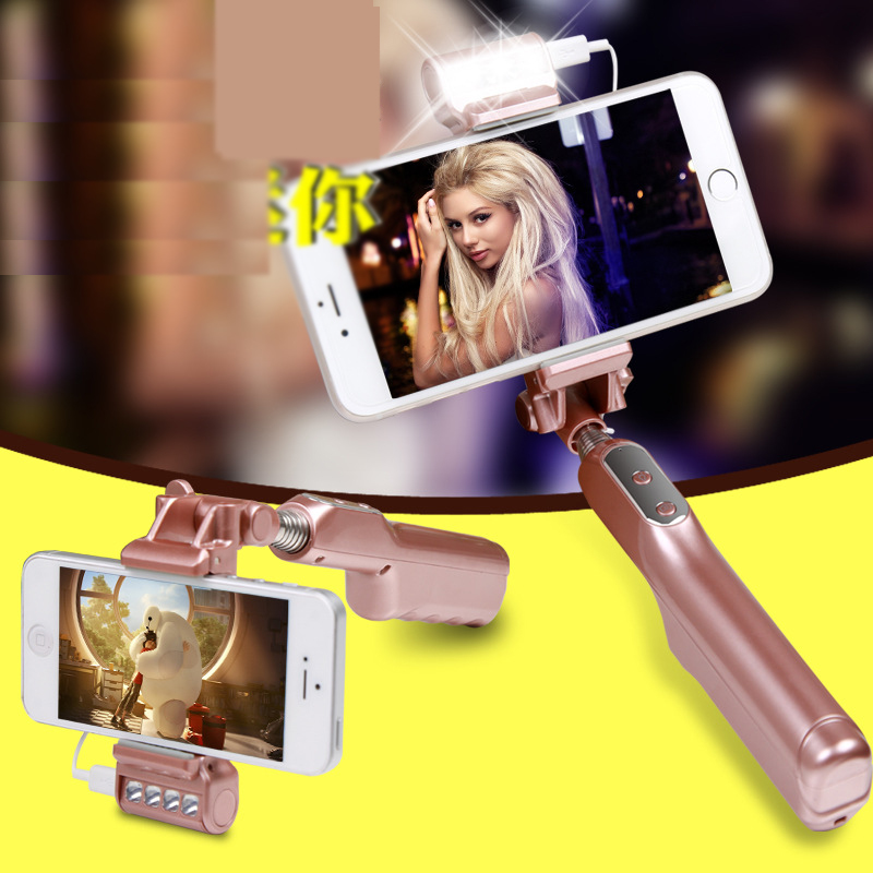 New Design Wired Portable Selfie Stick for iPhone Android S1