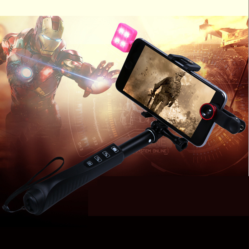 Wireless Bluetooth Portable Selfie Stick for iPhone Android RK88E