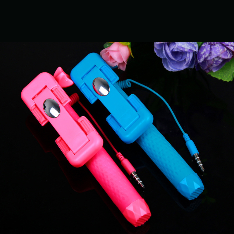 Mini Portable Steel Selfie Stick for iPhone Android RK-mini3s