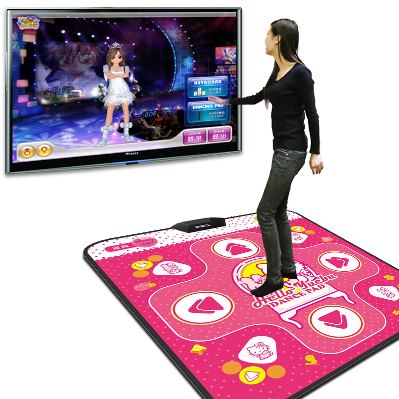 Fitness Single Thickened Cartoons Dancing Household Dance Pad