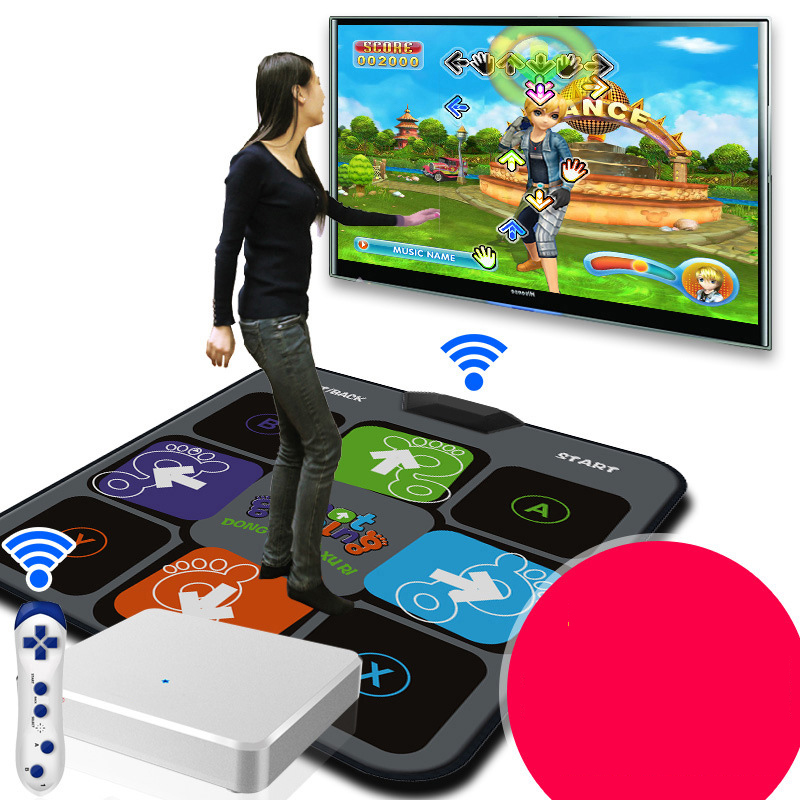 Single Wireless Game Dance Pad Dance Machine Dancing Step Household Dance Pad