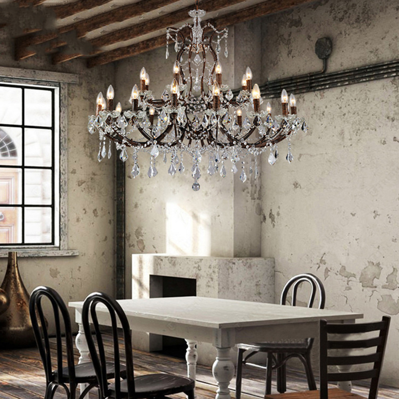 Luxury Clear Glass Chandeliers Lamp Cristal Lamp Hotel Lighting Modern Crystal Chandelier