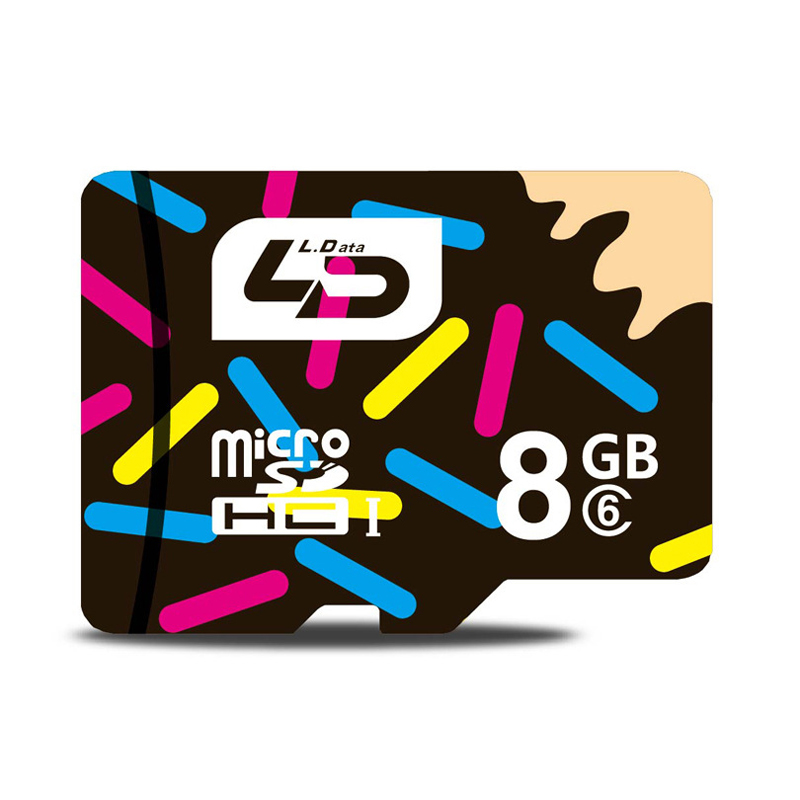LD Micro SD Card 8GB Class6 Memory Card Flash Memory for cell Phones Tablet Camera