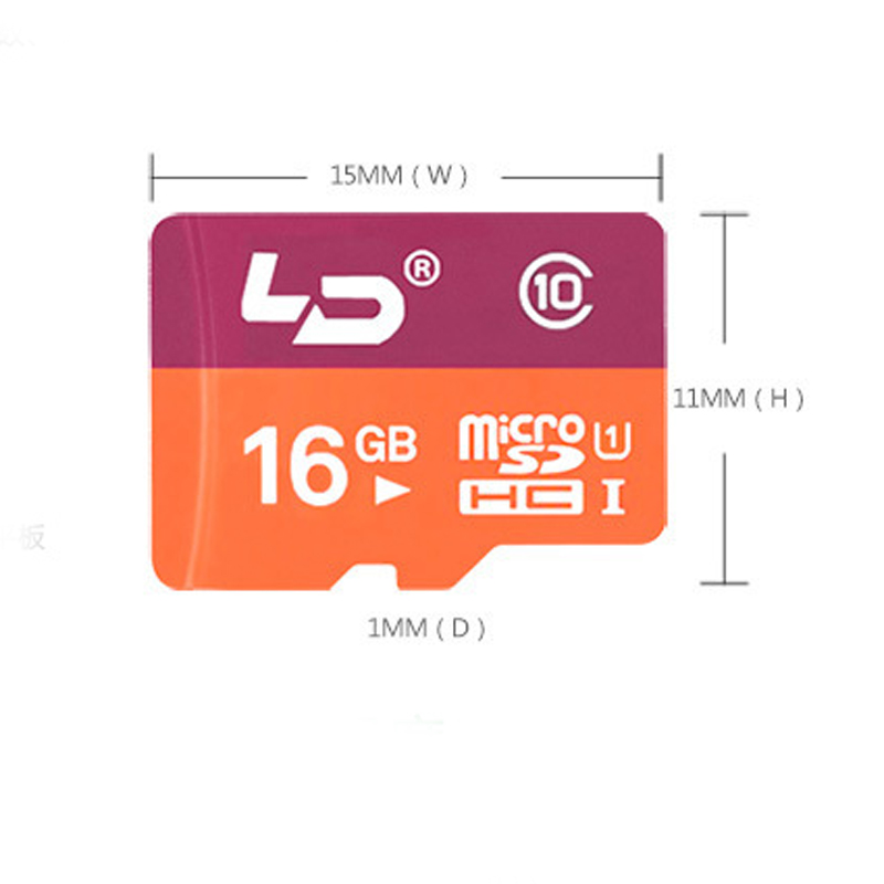 LD Micro SD Card 16GB Class 10 Memory Card Flash Memory for cell Phones Tablet Camera