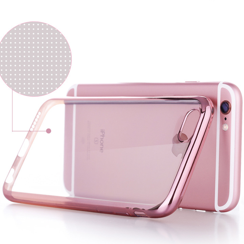 Plating Phone Case Silicon Clear Soft TPU Cover Case 360 Full Edge Protection Phone Case For Oppo R7 R9