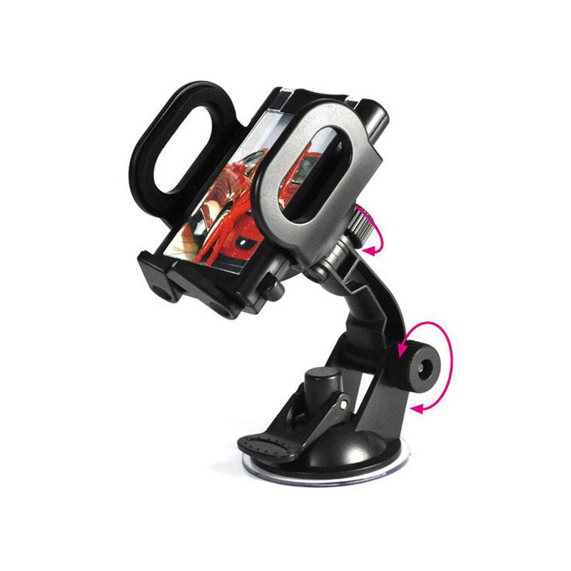 Car Sucker Phone Stand Holder Navigate Case Rotating Socket Windshield Mount