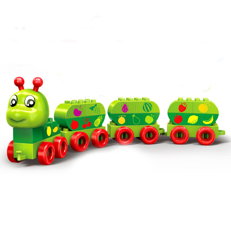 BanBao Cute Baby Toys Building Blocks Early Education Learn Family Game Toy Girls Carpenterworm Brick Blocks DIY